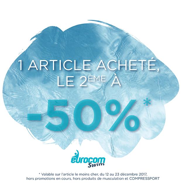 50% sur le 2e article
