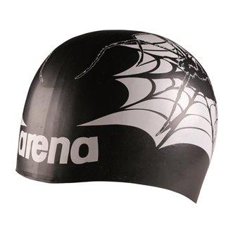 Bonnet de bain ARENA Poolish MOULDED BLACK-TARANTULA