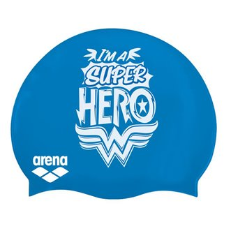 Bonnet de bain ARENA SUPER HERO CAP JR WONDER WOMAN