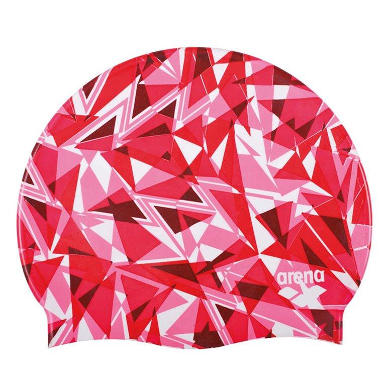 Bonnet de bain ARENA SHATTERED GLASS FLUO RED
