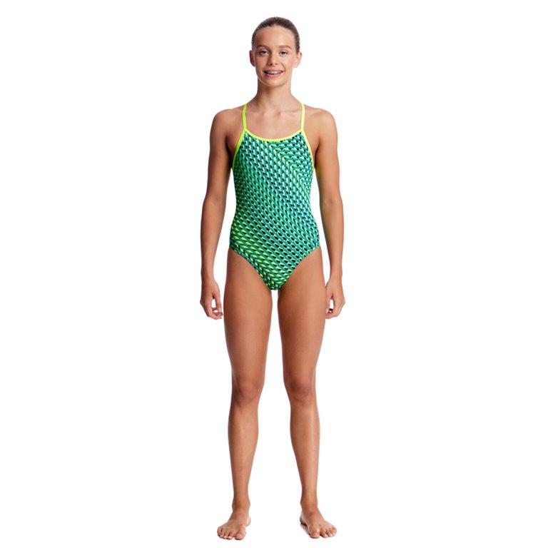 Maillot de bain 1 pièce FUNKITA Green Gator Diamond Back
