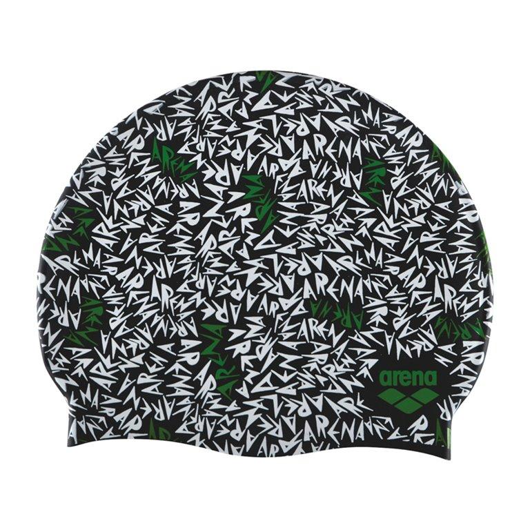Bonnet de bain ARENA MEMPHIS BLACK-GREEN