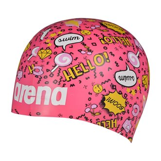 Bonnet de bain ARENA Poolish MOULDED FANTASY PINK