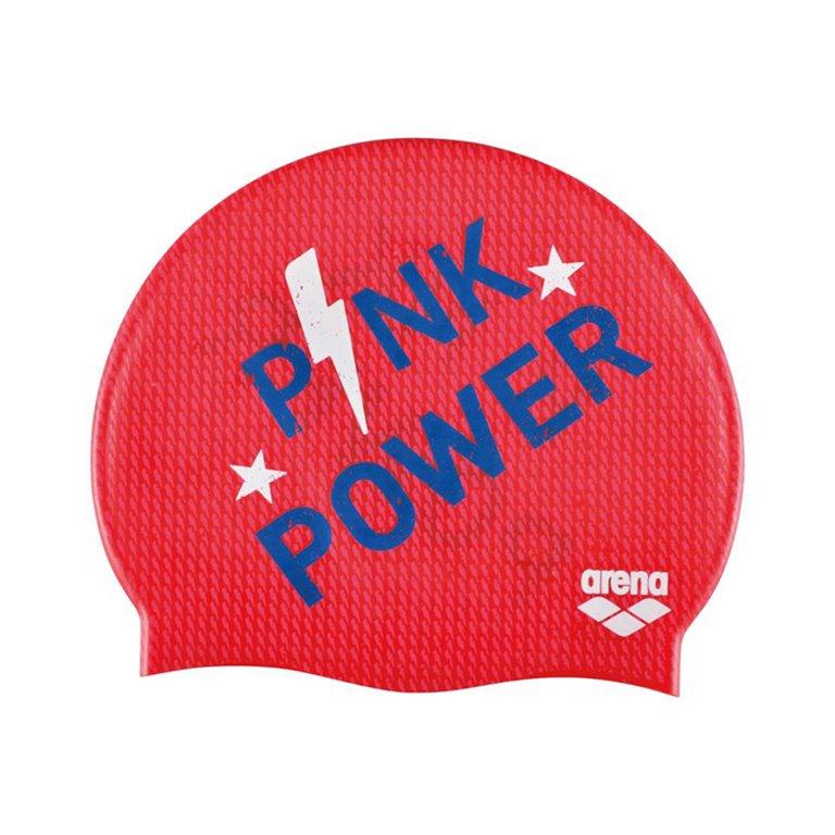 Bonnet de bain ARENA PINK POWER RED JR