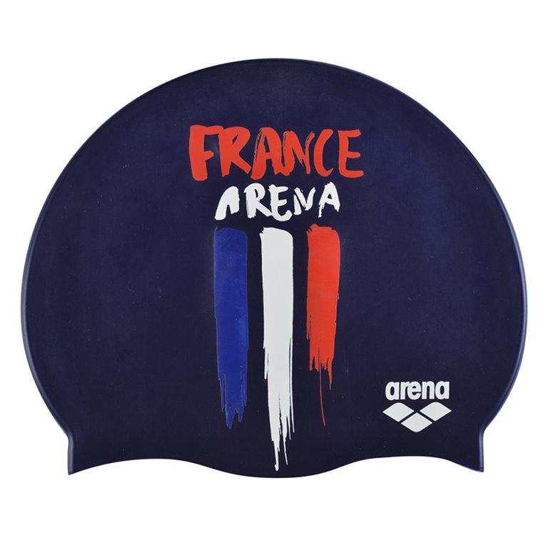 Bonnet de bain ARENA FLAGS SILICONE CAP FRANCE