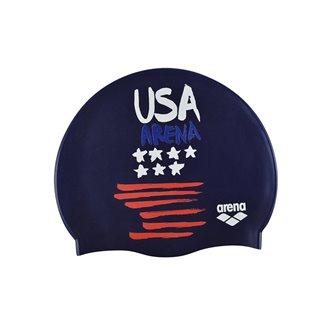 Bonnet de bain ARENA FLAGS SILICONE CAP USA