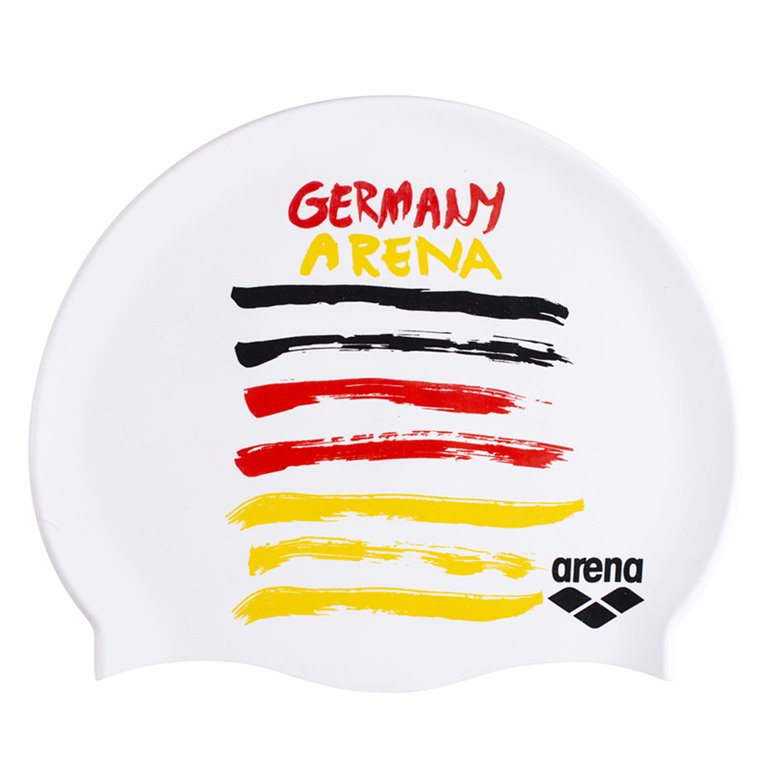 Bonnet de bain ARENA FLAGS SILICONE CAP Allemagne