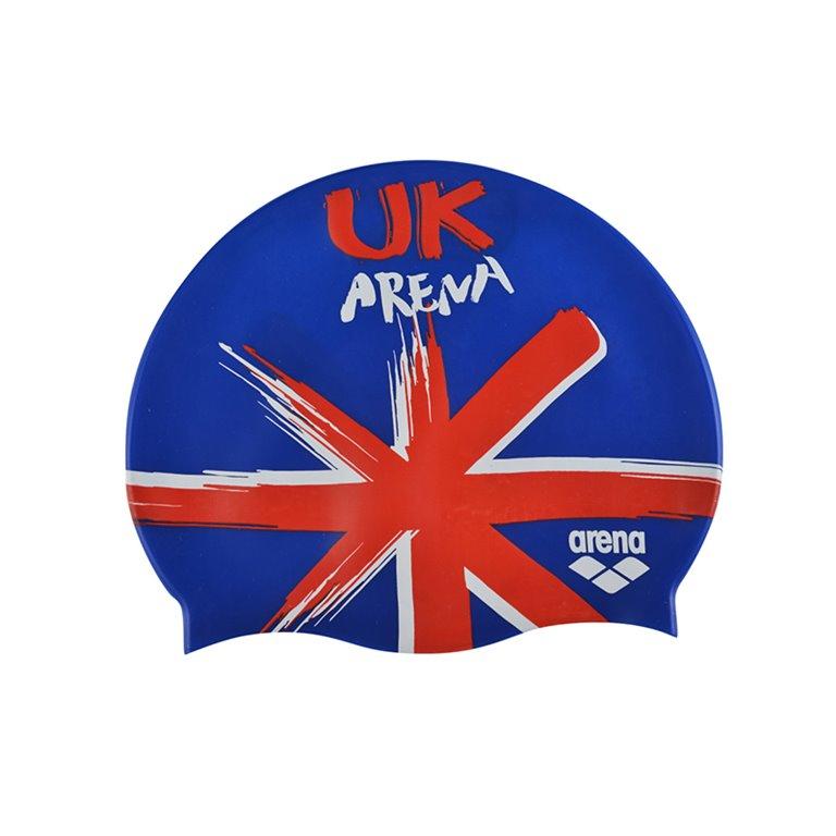 Bonnet de bain ARENA FLAGS SILICONE CAP UK