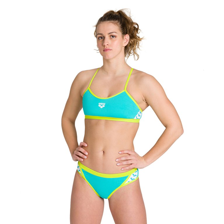 Maillot de bain 2 pièces ARENA W TEAM STRIPE TWO PIECES