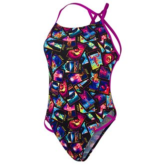 Maillot de bain 1 pièce SPEEDO FREESTYLER GALAXY CARDS